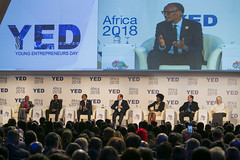 President Kagame speaks alongside President Abdel Fattah Al Sisi of the Arab Republic of Egypt at the on-going Africa 2018 Forum | Sharm El Sheikh, 08 December 2018
