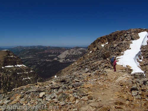 The final push up Bald Mountain in the Uinta Mountains of Utah