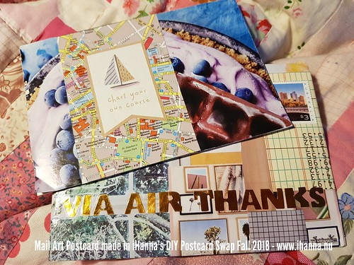 DIY Postcard created by Julia for iHanna's DIY Postcard Swap Fall 2018