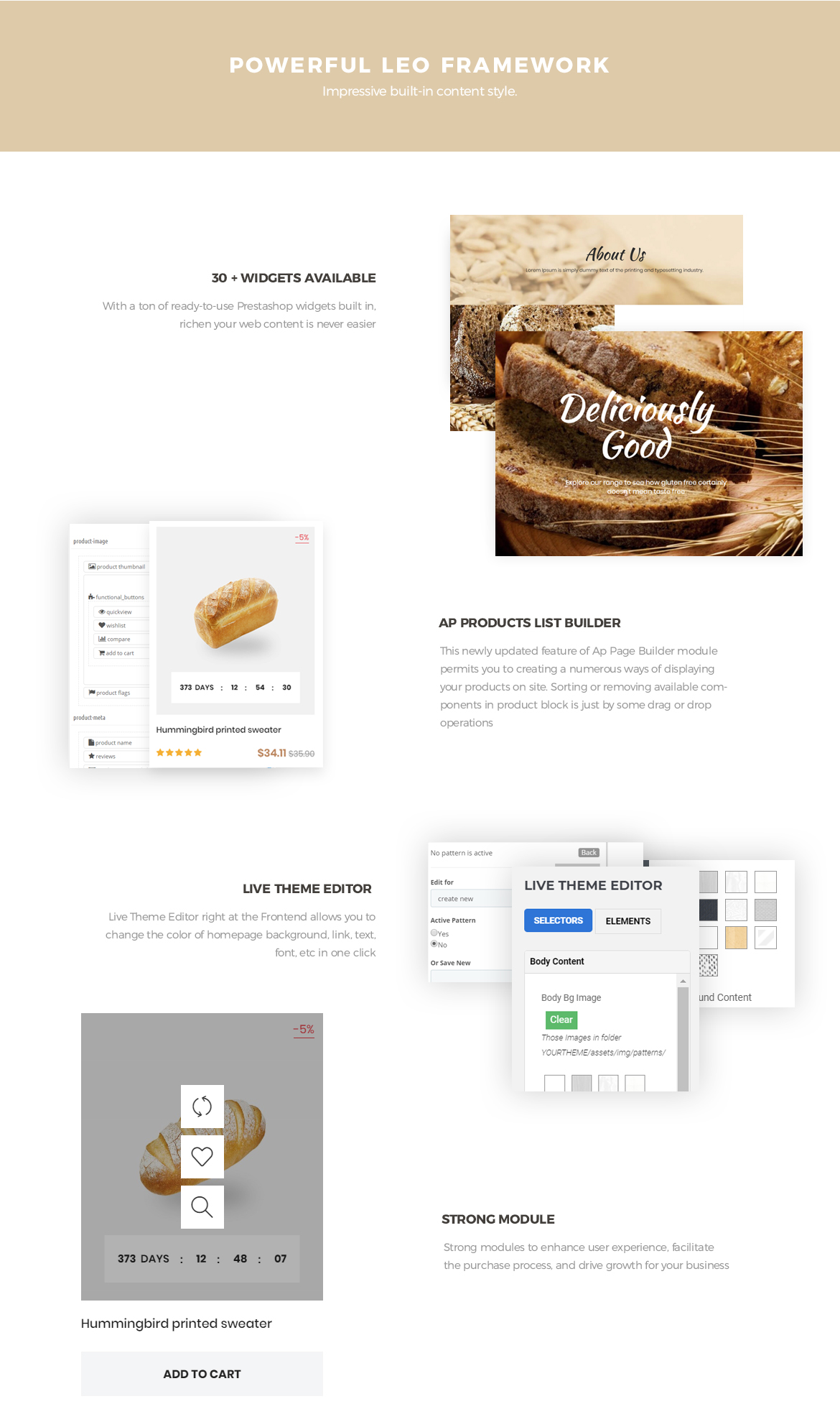 powerful prestashop framework - Bos Highlands - Food and Drink Prestashop Theme