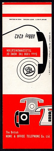 Matchbook Cover - Home & Office Telephone Co