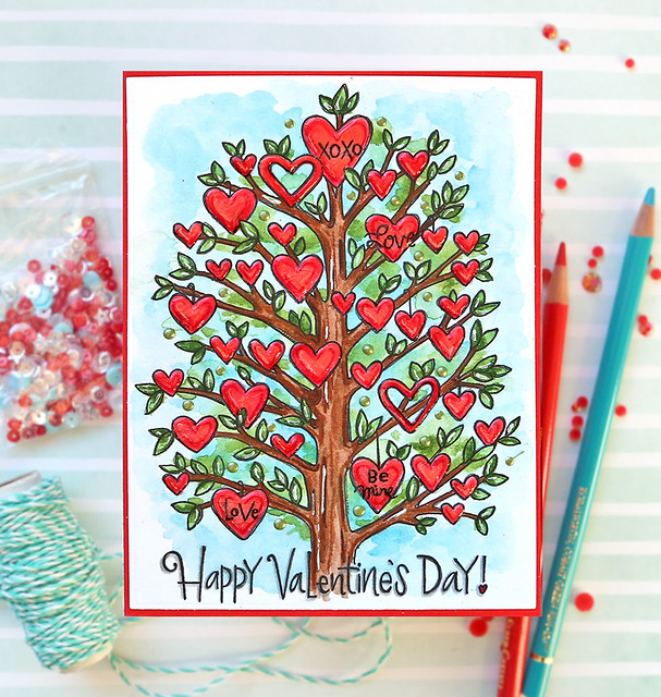 Valentine's Day Watercolor Card 5