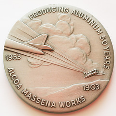 alcoa aluminum medal reverse