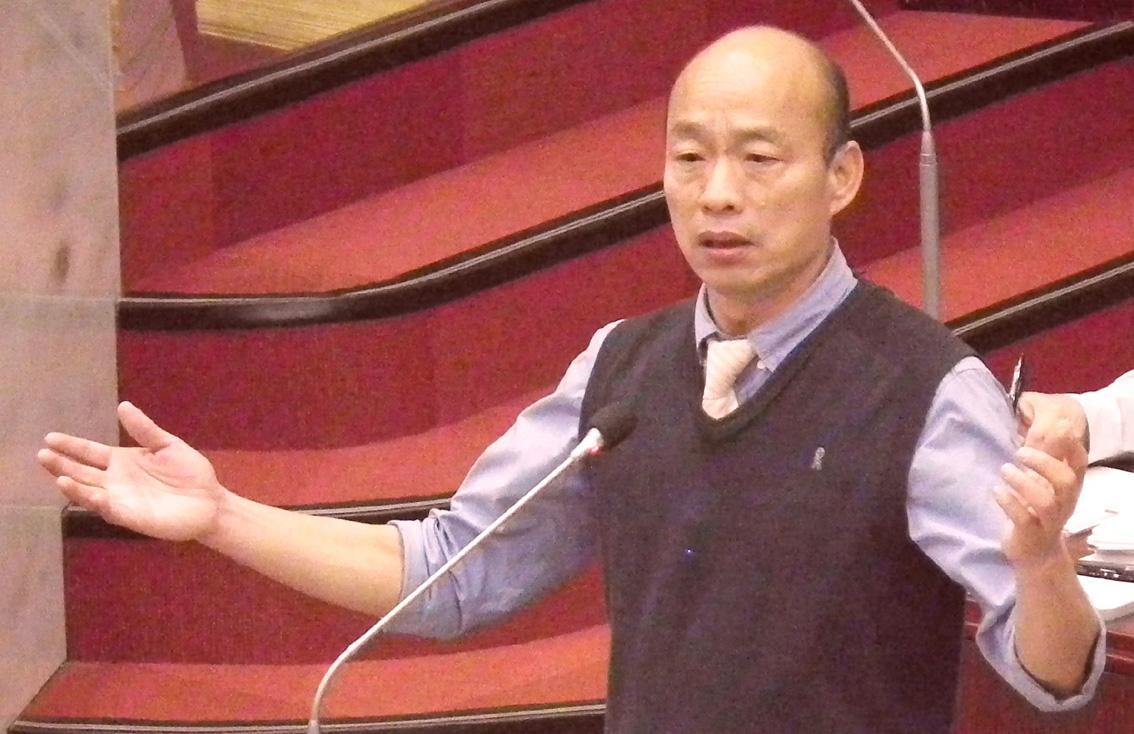 高雄市長韓國瑜首度在市議會答詢