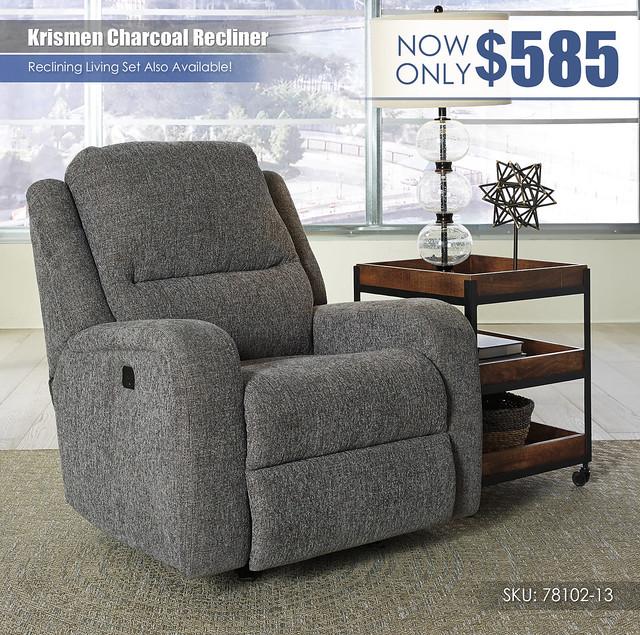 Krismen Charcoal Recliner_78102-13_Update
