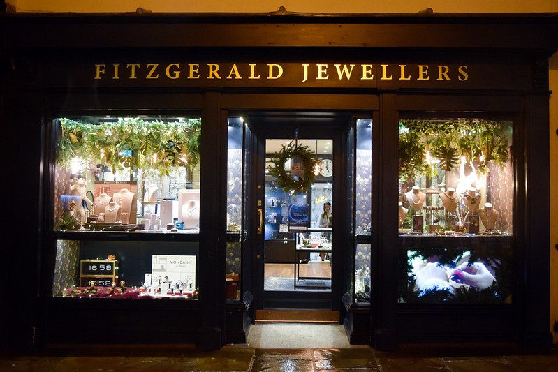 Fitzgerald Jewellers at Christmas, Canterbury