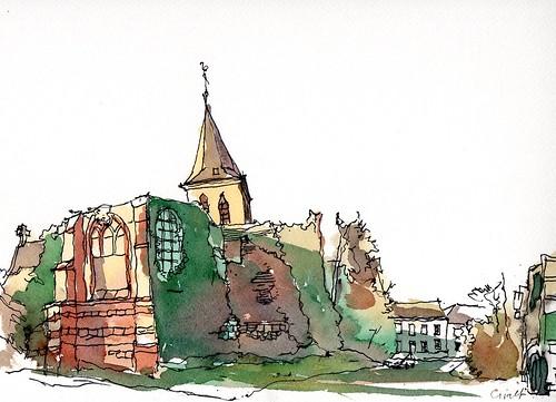 Ruine Sint-Michielskerk Westmeerbeek
