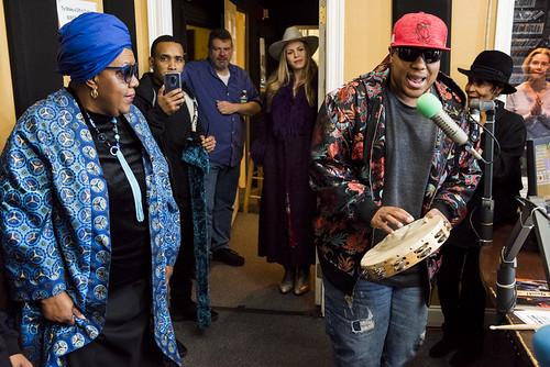 Mardi Gras Indian Collective at WWOZ 38th birthday celebration on December 5, 2018. Photo by Ryan Hodgson-Rigsbee RHRphoto.com