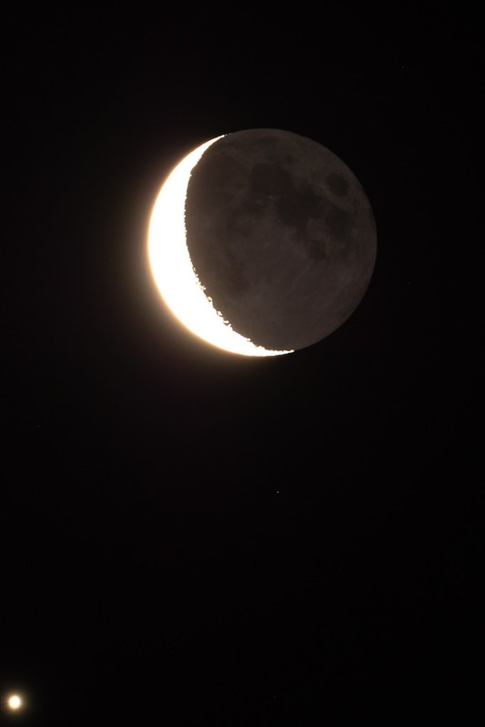 月と金星の接近 (2019/1/2)