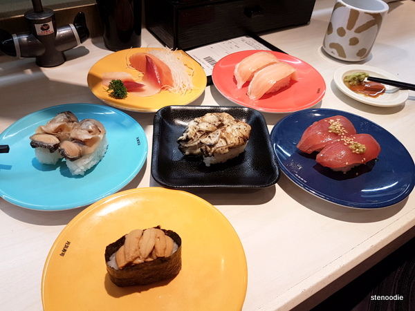 Genki Sushi plates