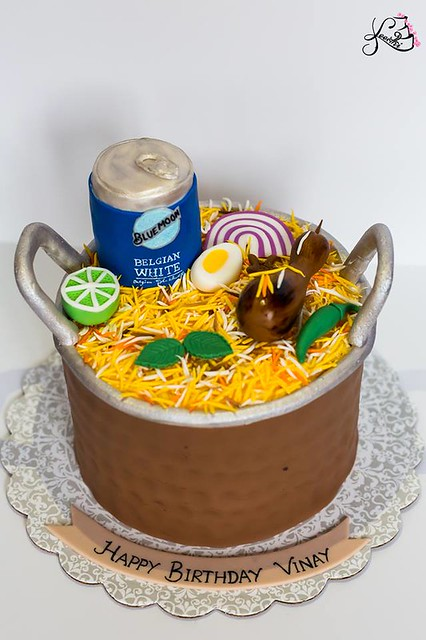 Biryani n Beer Cake from Sweet Treats by Keerthi