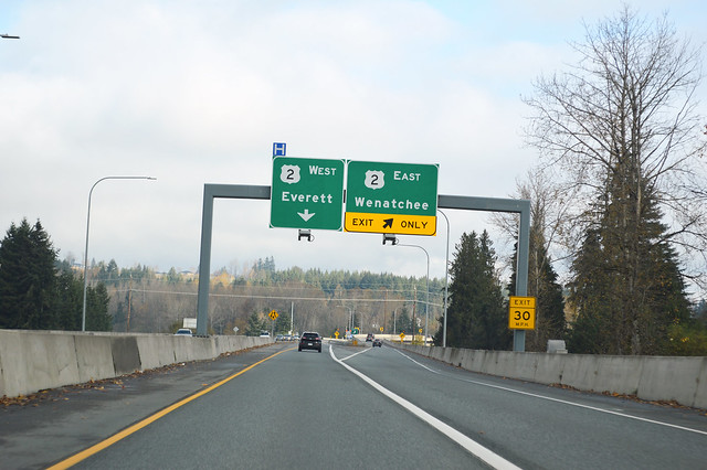 SR 522 @ US 2 eastward