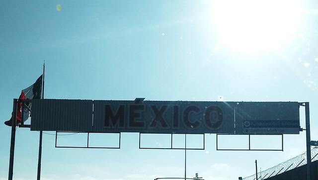 Entrando en México desde los Estados Unidos
