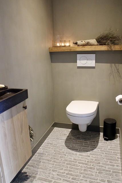 Waaltjes toilet beton cire muren