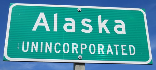 Alaska Unincorporated Sign (Alaska, Wisconsin)