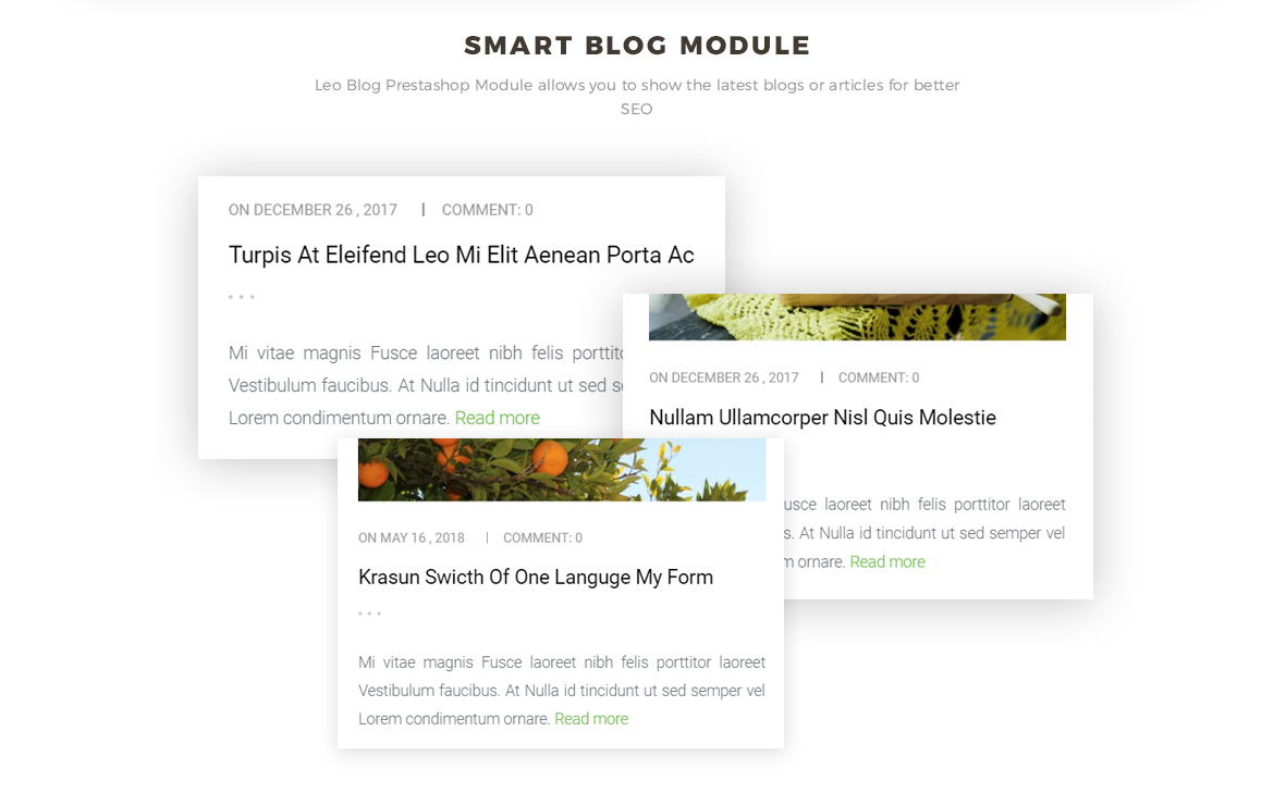 smart blog module - food prestashop theme