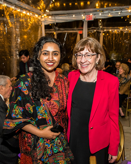 Varsha Thebo and Senator Collins