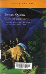 Bernard Quiriny, Cuentos carnívoros