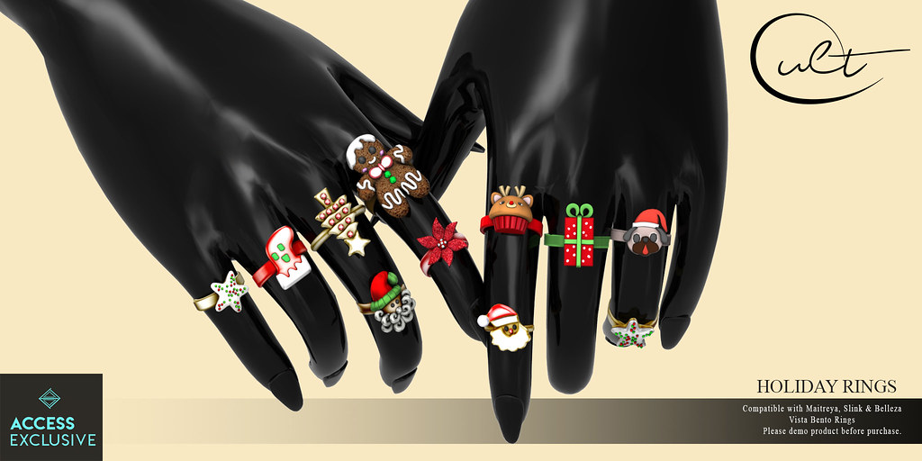 : CULT : HOLIDAY RINGS