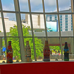 Inside the World of Coca Cola Museum, Looking Out, Atlanta GA