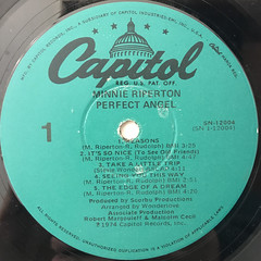 MINNIE RIPERTON:PERFECT ANGEL(LABEL SIDE-A)