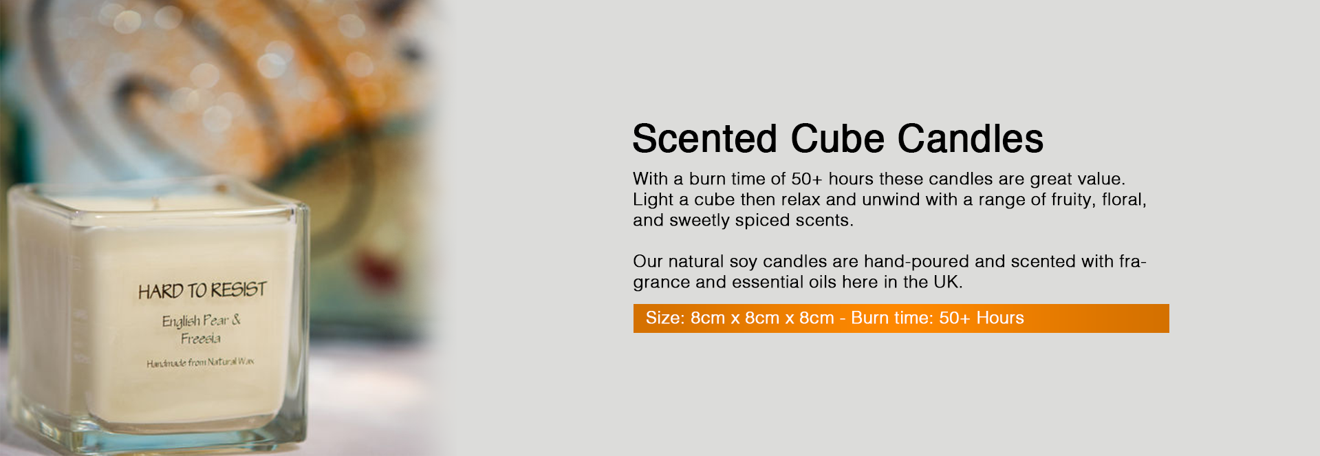 Scented Cube Candles
