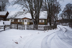 Winter in Lithuanian ethnographic village