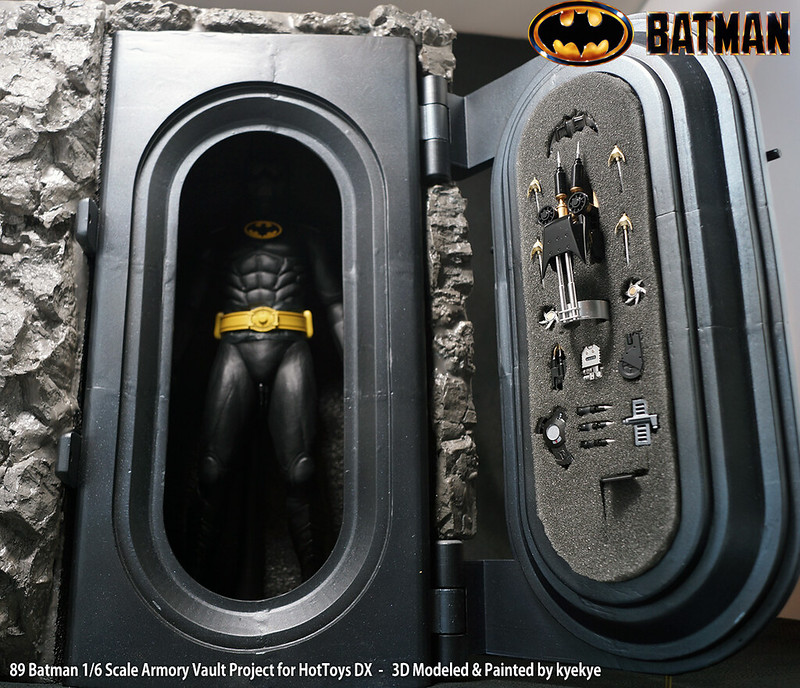 1/6 Scale 89 Batman Armory Custom (3D Print) 46109856204_818ccd0df1_c