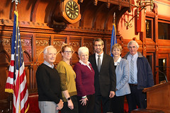 Rep. Zawistowski with Brian & Karen Doyon, Lt. Gov. Nancy Wyman and Suffield Rotary President Dick Kisiel