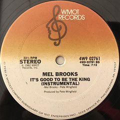 MEL BROOKS:IT'S GOOD TO BE THE KING(LABEL SIDE-B)