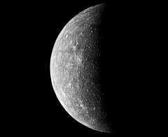The first image of Mercury acquired by NASA's Mariner 10 in 1974. Original from NASA. Digitally enhanced by rawpixel.