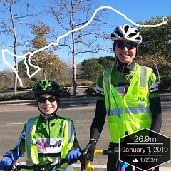 Mid ride photo stop on new years day Ride Across Cal…