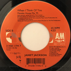 JANET JACKSON:RUNAWAY(LABEL SIDE-B)