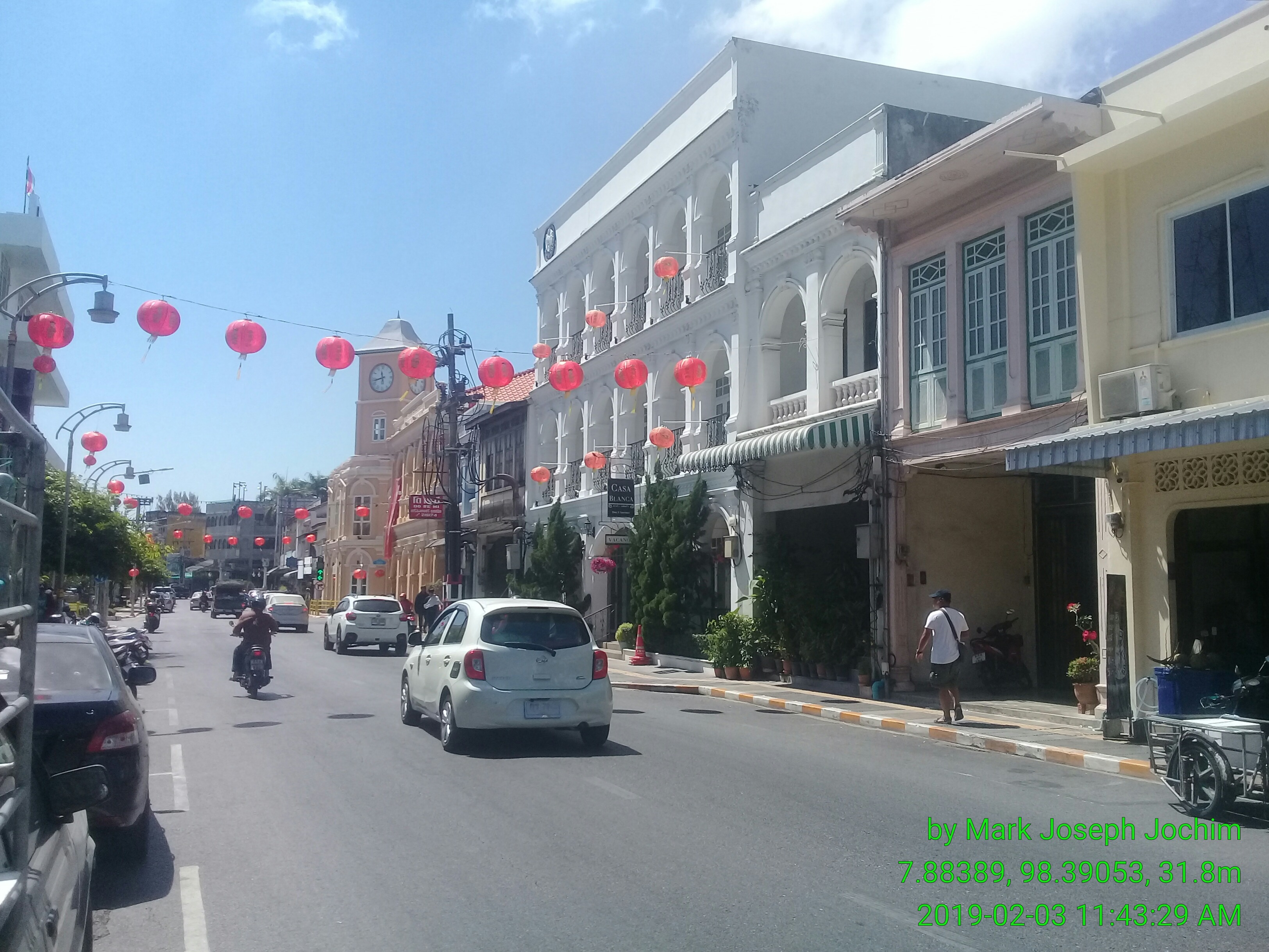 Phuket Road in Old Phuket Town on a Sunday morning in early February.