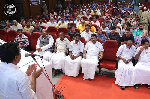 President Kannukara Gram Panchayat, Francis Tharayil, seeking blessings