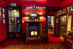 Real Fire in the Entrance to Waren House Hotel, Bamburgh, Lovely place to stay with So much visable History Dating Back to when it was Built in the 1700's