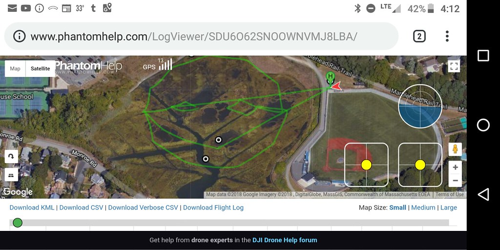 Autonomous drone - flight sketch - Red Waypoint app