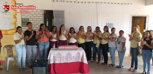 Escola E.M.E.B.  Moacir Alves Timbó para comemora  33 anos com missa em ação de graças