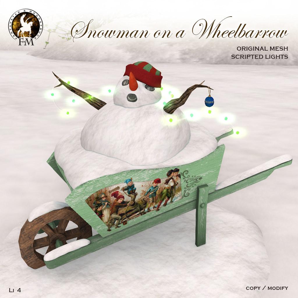 F&M *Snowman on a Wheelbarrow * GROUP GIFT - TeleportHub.com Live!