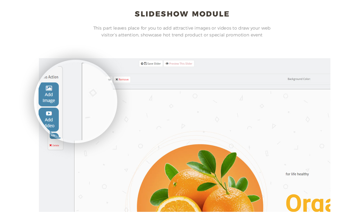 slide show module - Bos Freshness - Food Prestashop Theme