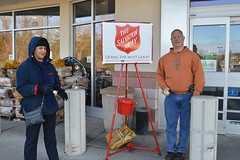 """Despite being a very COLD morning ringing the bell for the Salvation Army, Rep. Fishbein was warmed by the good-natured conversation and heartfelt laughter shared with his new friend, Salvation Army caseworker Claudia Cano, from Meriden. She may have """"out-belled"""" the lawmaker but the Salvation Army and their recipients are the true winners.  Thank you to the Salvation Army and Claudia for working hard on behalf of those who need a helping hand."""