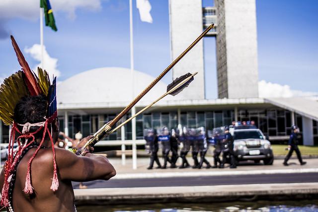 A Funai foi criada em 1967 e tinha prerrogativa de identificar, delimitar e demarcar terras indígenas - Créditos: Sheyden AfroIndígena/Mídia Ninja/Mobilização Nacional Indígena