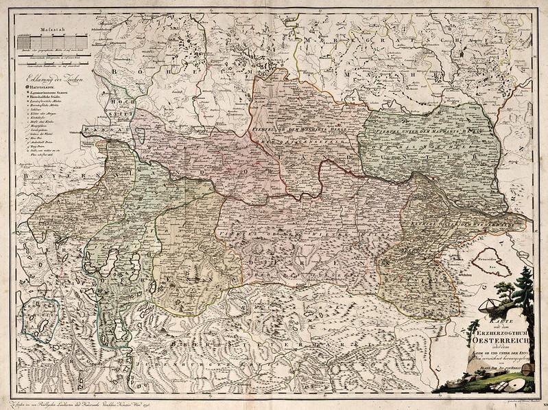 Franz Johann Joseph von Reilly - Karte von dem Erzherzogthum Oesterreich (1795)