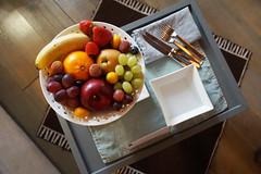 Fruit bowl at Gombit Hotel, Bergamo, Italy