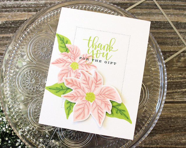 LizzieJones_PapertreyInk_SimpleToSpectacular_PaintedPoinsettias_SimpleThankYouForTheGiftCard