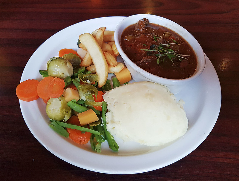Clarke's Bar & Restaurant Beef Casserole Lunch