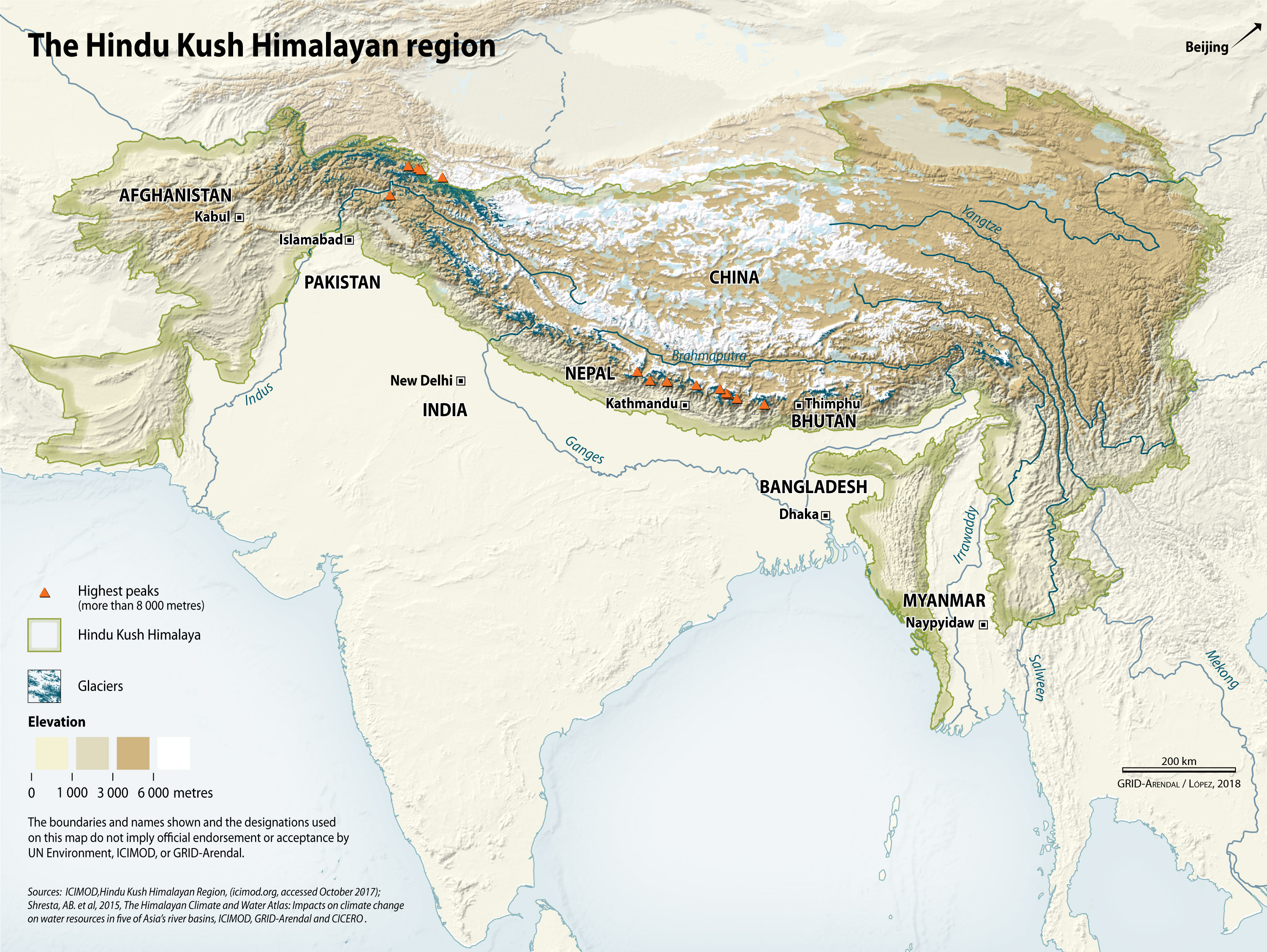The Hindu Kush Himalayan region | GRID-Arendal on