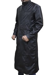 Keanu Reeves The Matrix Neo Black Leather Trench Coat 2