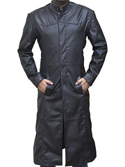 Keanu Reeves The Matrix Neo Black Leather Trench Coat 1