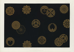 Vintage Japanese pattern from The Practical Decorator and Ornamentist (1892) by G.A Audsley and M.A. Audsley. Digitally enhanced from our own original first edition of the publication.